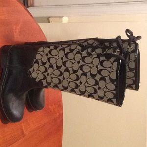 Coach rain shoes